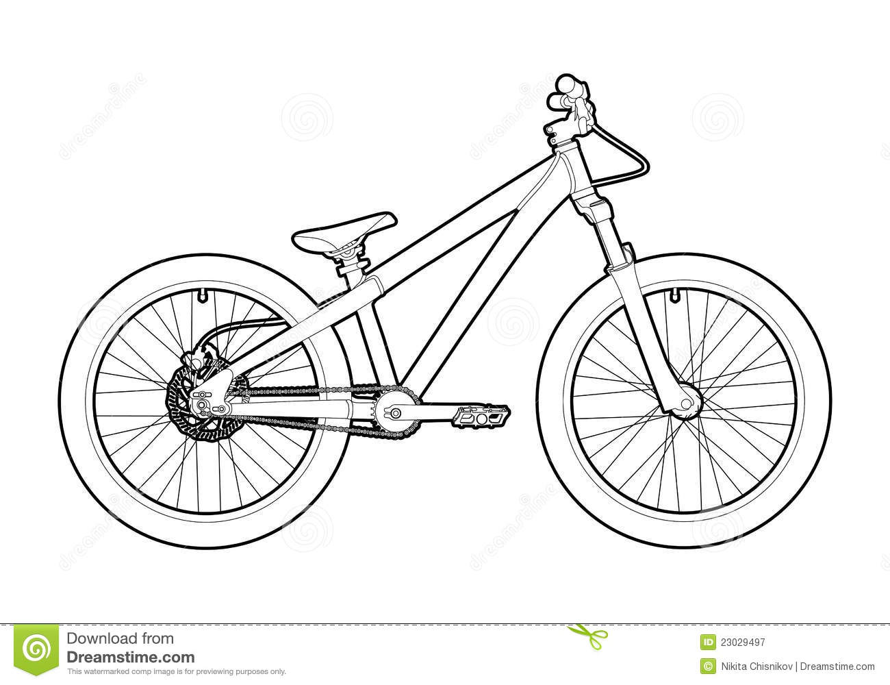 Outline Bicycle Royalty Free Stock Photography Image