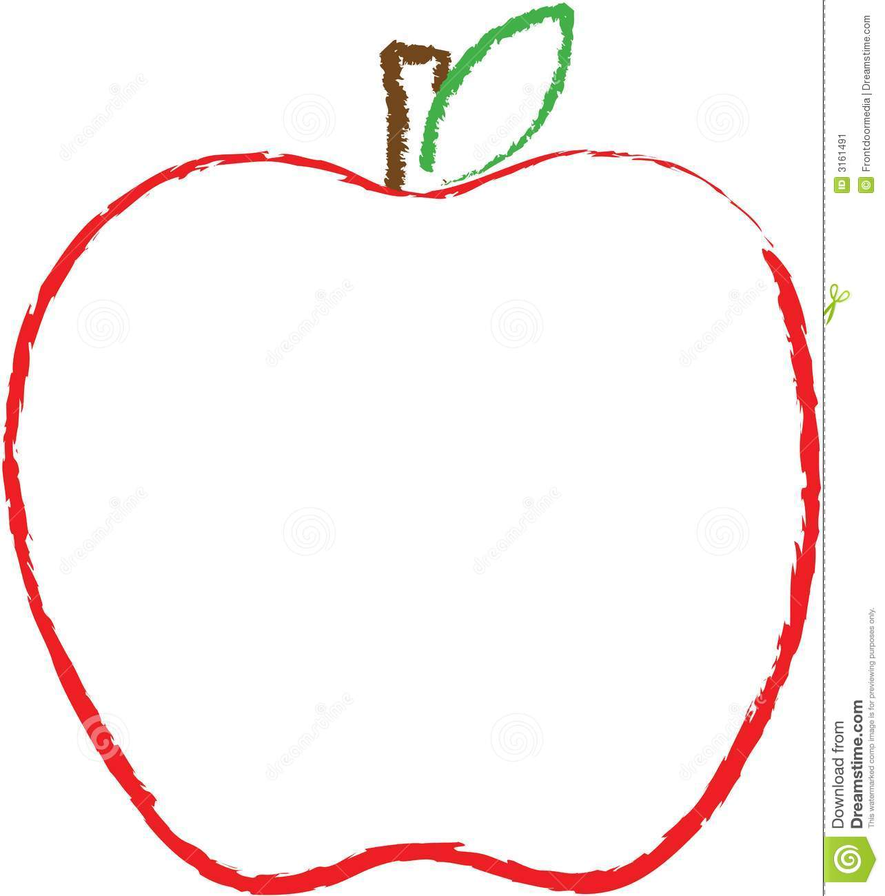 Printable Apple Templates to Make Apple Crafts for Preschool |Template Big Apple