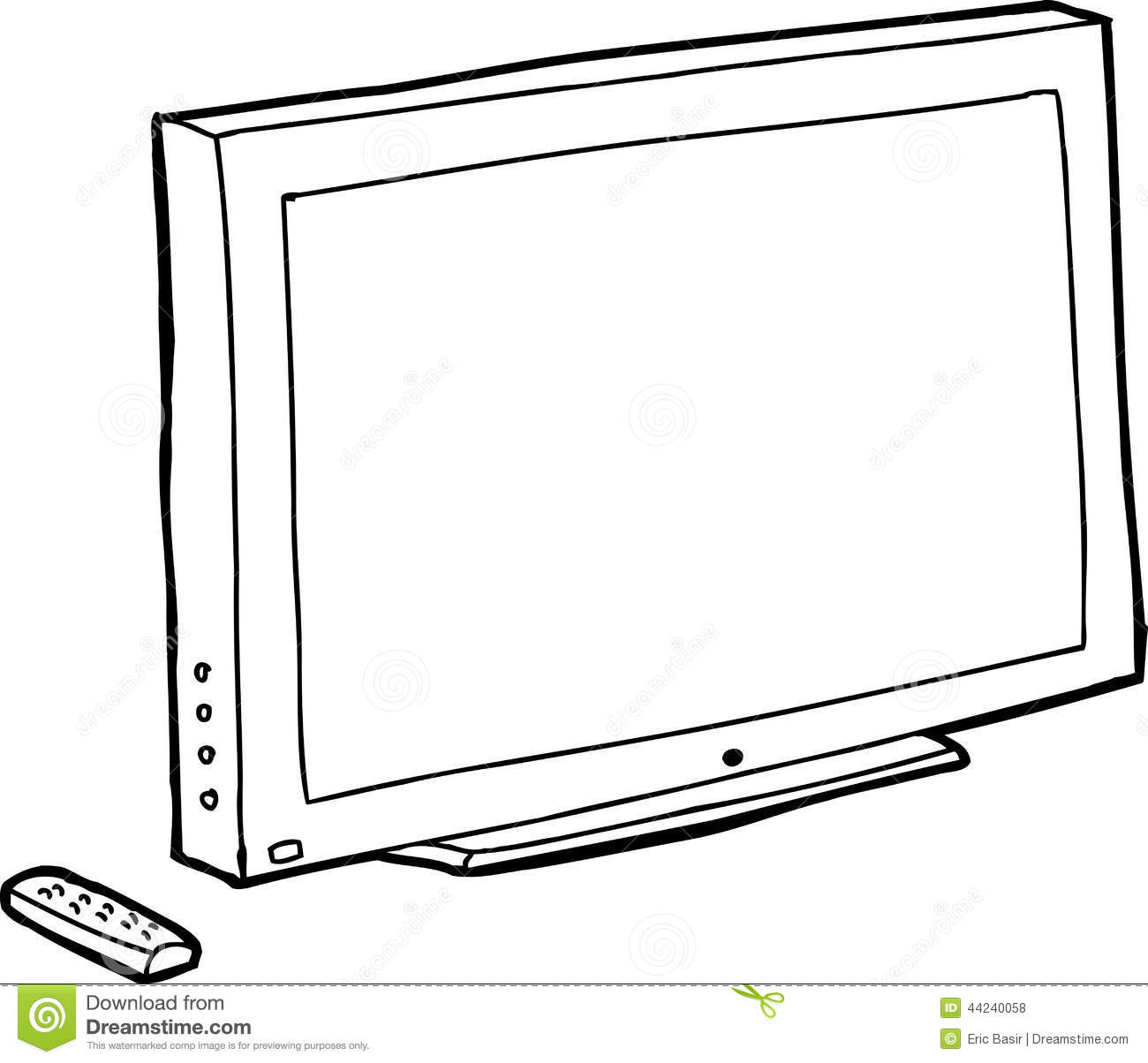 tv clipart black and white. outline black tv royalty free stock photos tv clipart and white