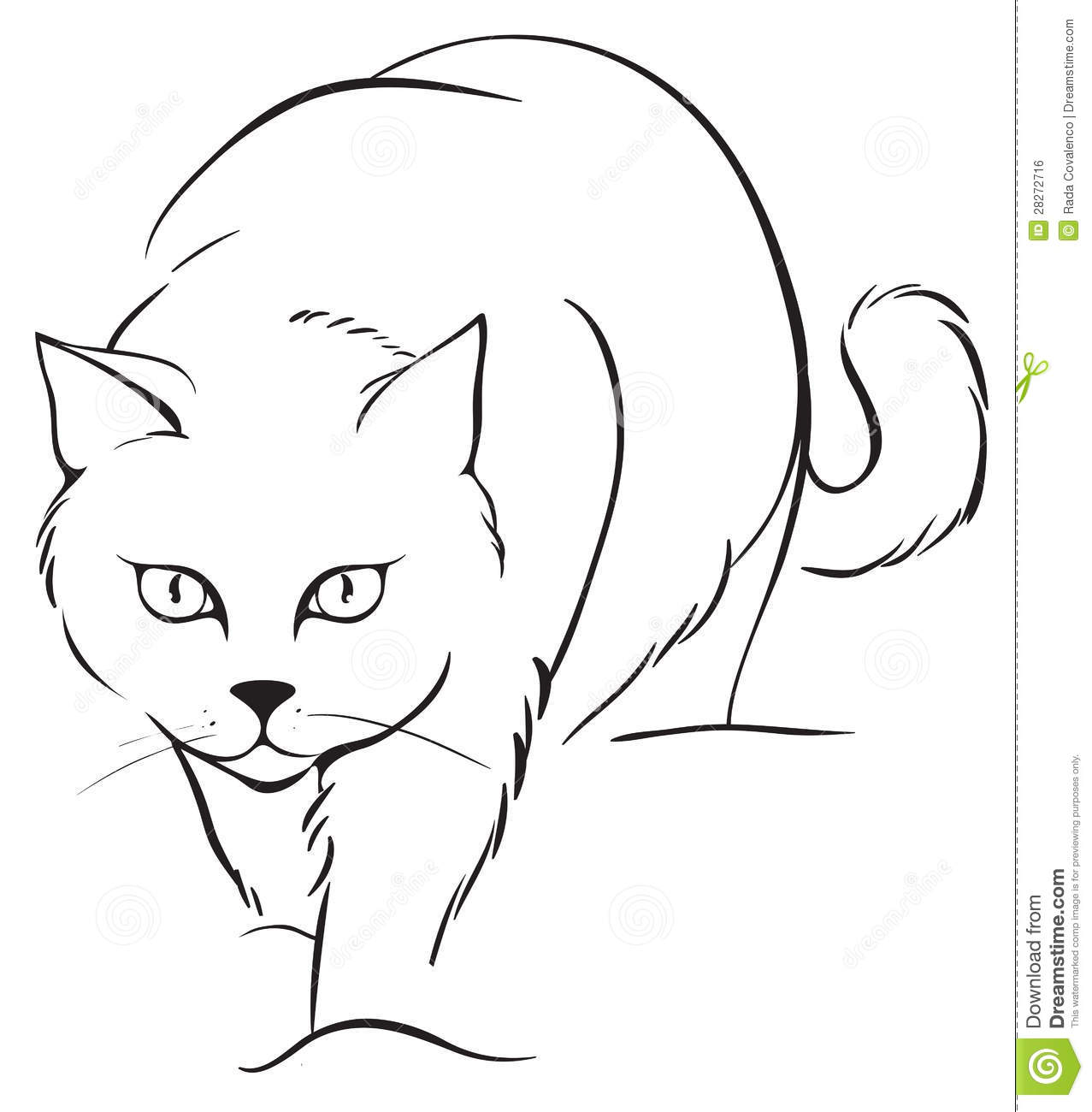 Marvelous Download Outline Cat Stock Vector. Illustration Of Cartoon, Kitten    28272716