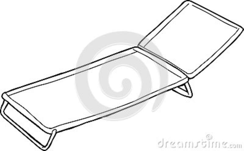 Outline Of Cot Stock Illustration Image 49263441