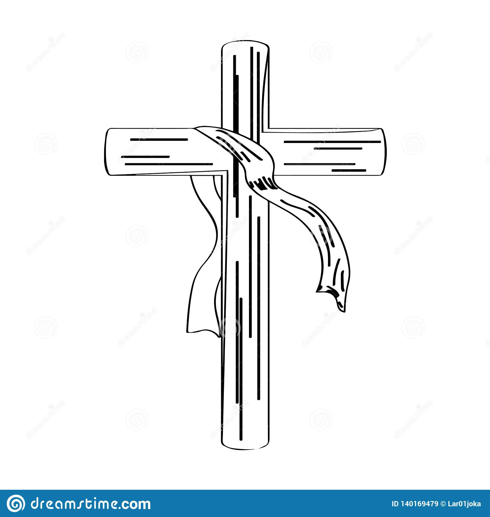 Outline Of A Cross With A Cloth Stock Vector Illustration Of Religion Church 140169479 Free download and use them in in your design related work. https www dreamstime com outline cross cloth outline cross cloth holy week vector illustration design image140169479