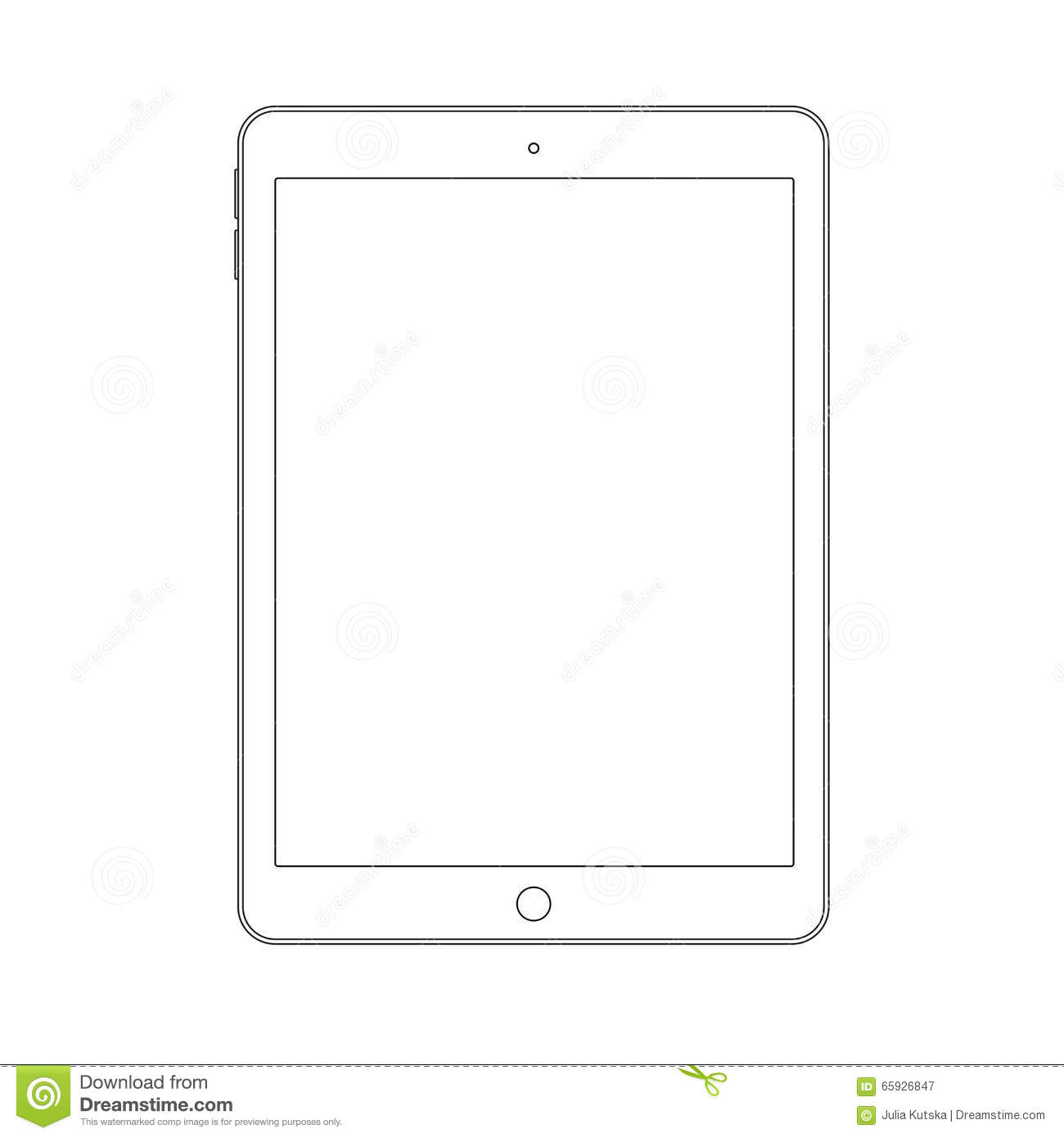 Drawing Smooth Lines In Photo With Tablet : Outline drawing tablet elegant thin line style design