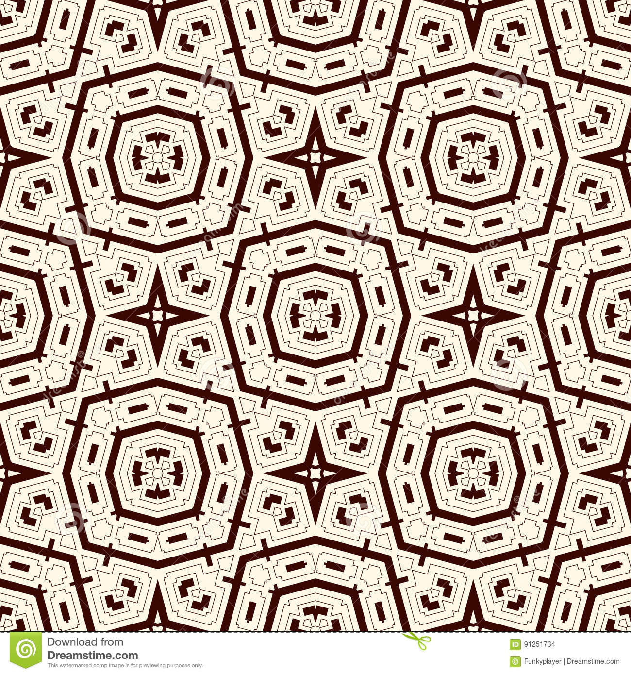 Outline Ethnic Abstract Background. Seamless Pattern With