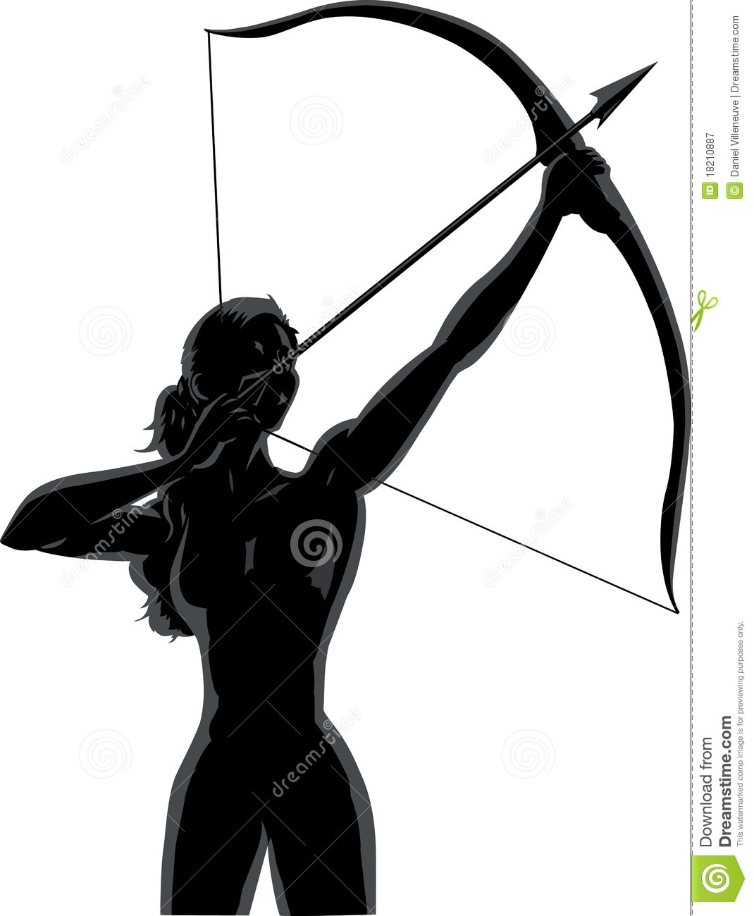 outline female archer royalty free stock photography
