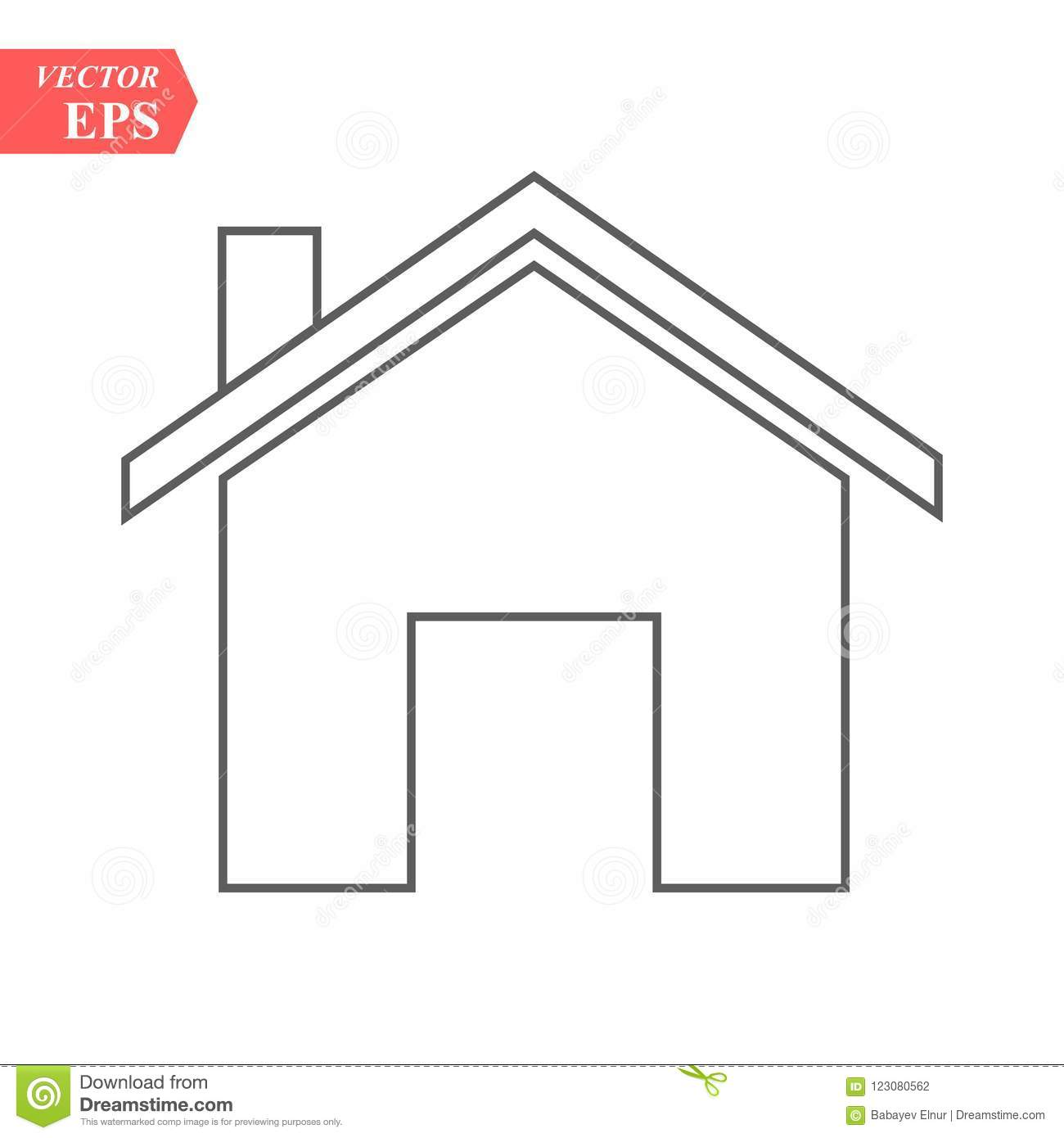 Outline Home Icon isolated on grey background. House pictogram. Line Homepage symbol for your web site design, logo, app, UI. Edit