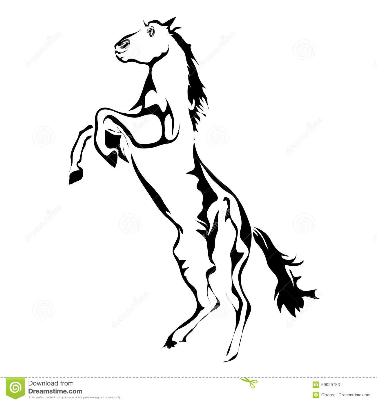 Outline Horse Vector Image Stock Vector Illustration Of Freedom Horse 69029783