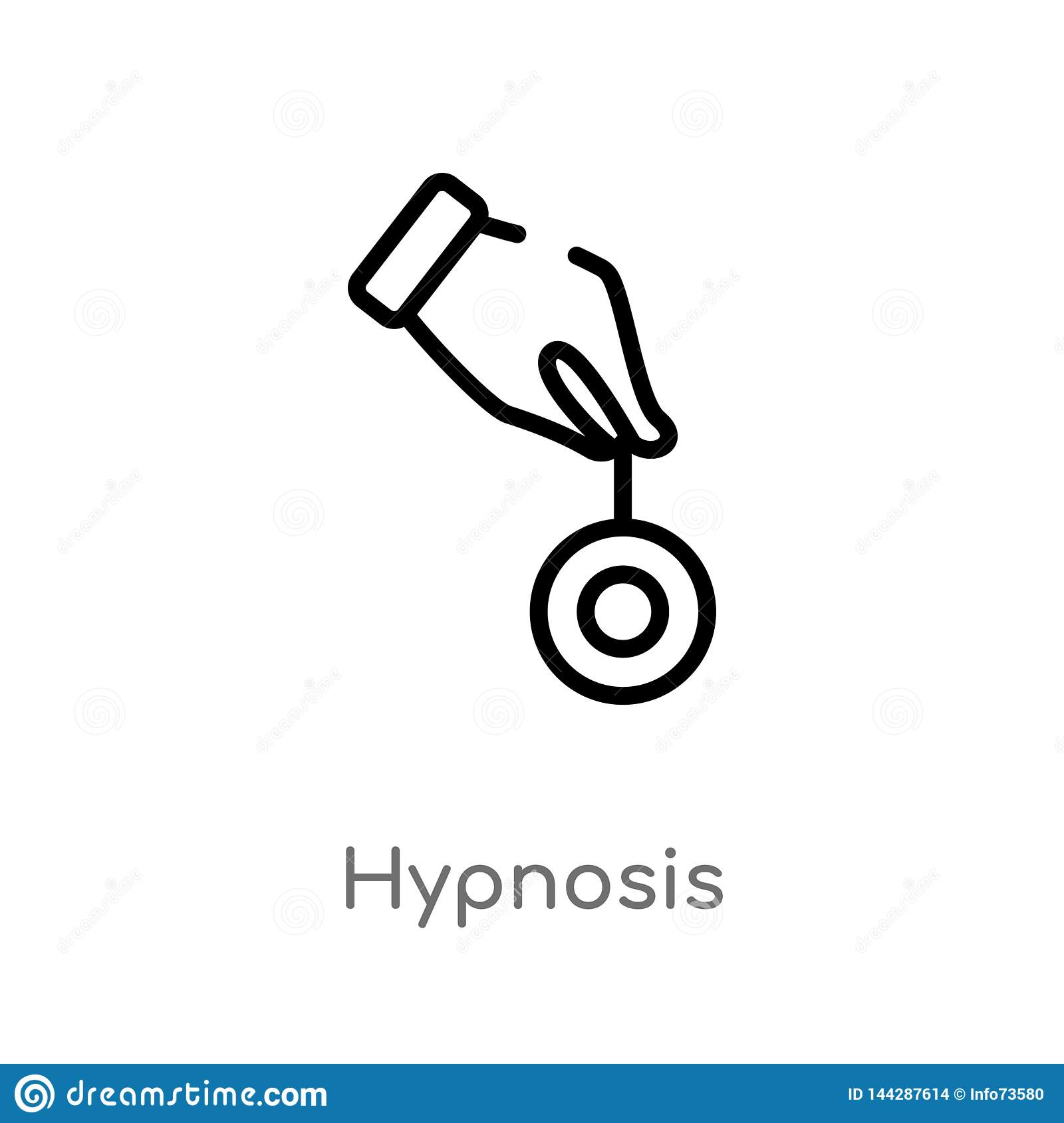 outline hypnosis vector icon. isolated black simple line element illustration from magic concept. editable vector stroke hypnosis