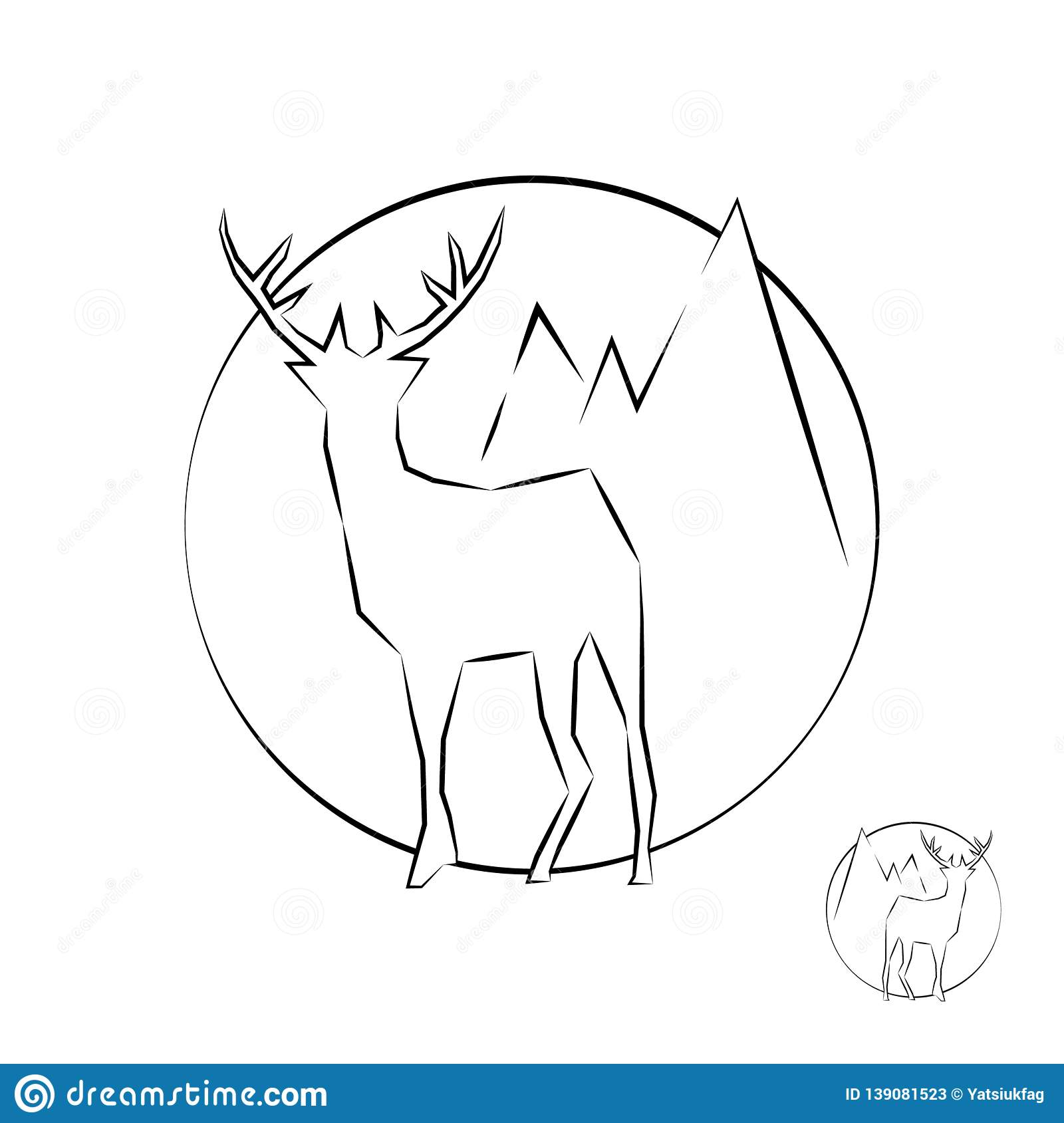 Outline icon with a deer