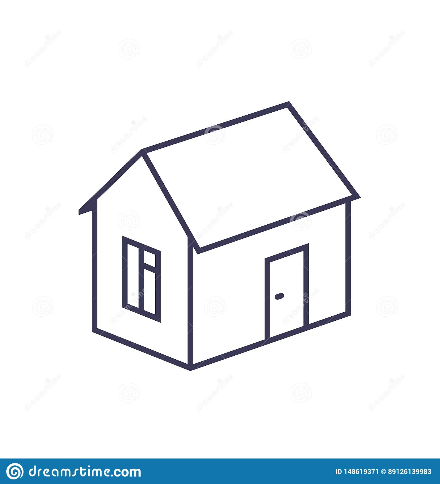 Outline image of a house on a white background.