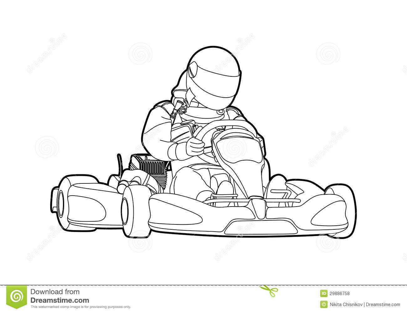 free go kart coloring pages - photo#26