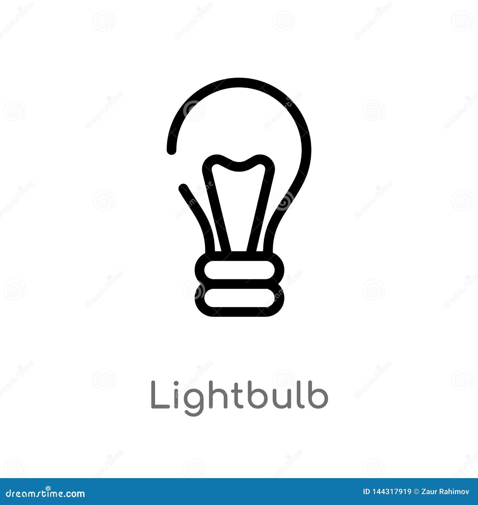 outline lightbulb vector icon. isolated black simple line element illustration from smart house concept. editable vector stroke