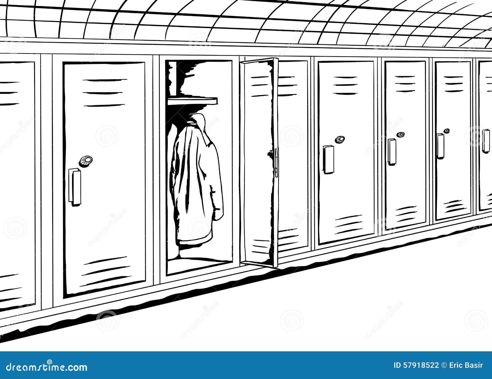 Locker Room I Cartoon