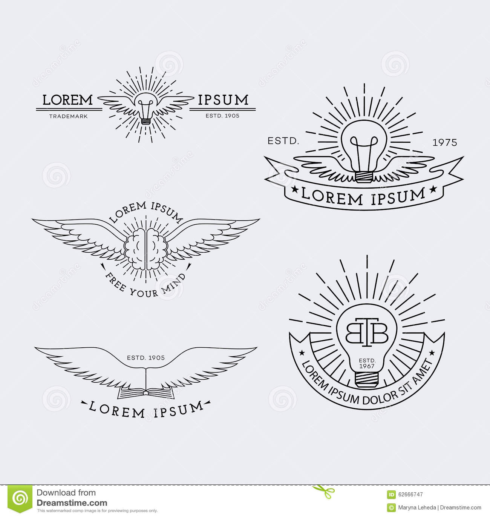 outline logos set stock vector
