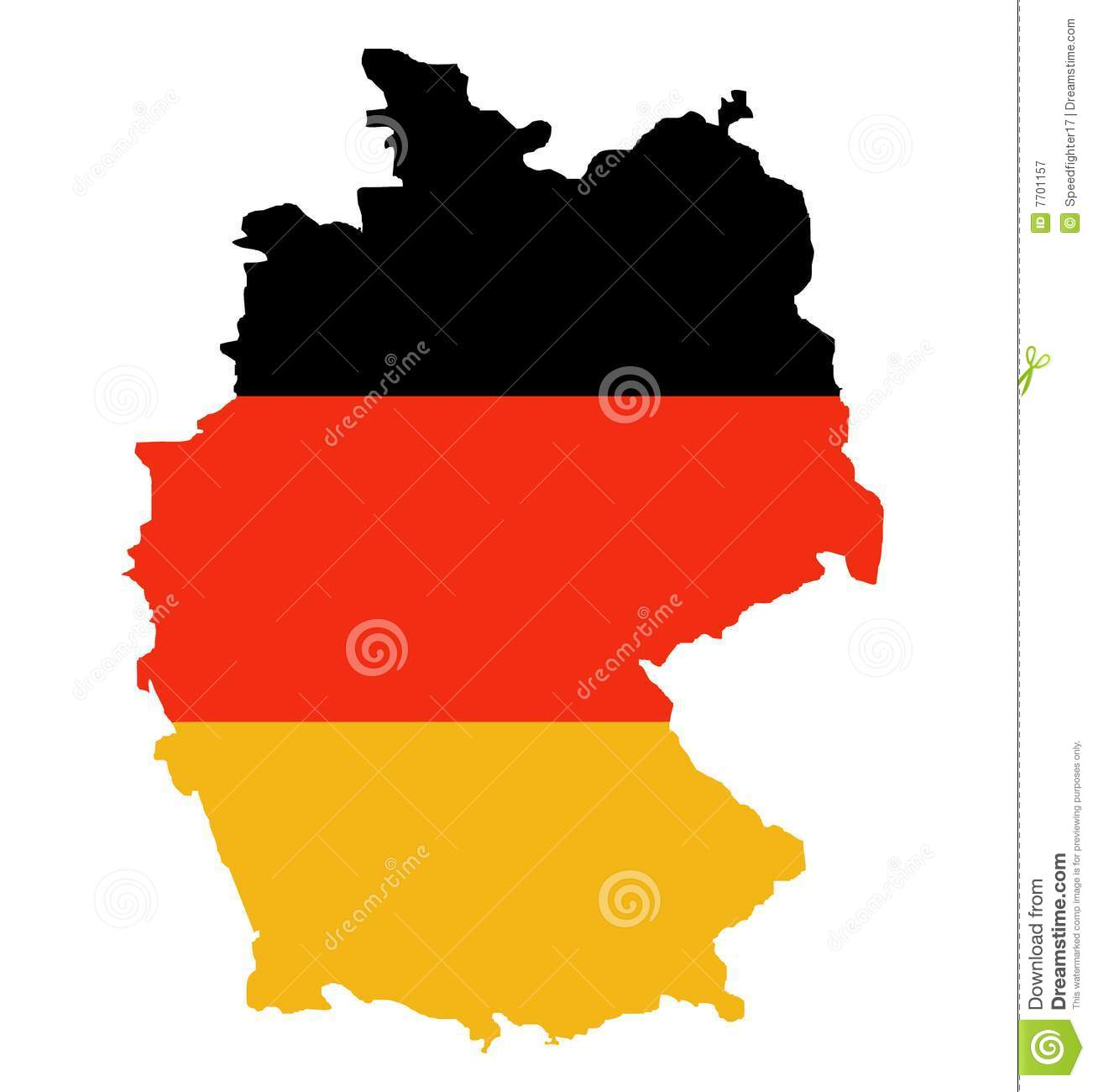 Outline Map Of Federal Republic Of Germany Royalty Free Stock - Germany map download