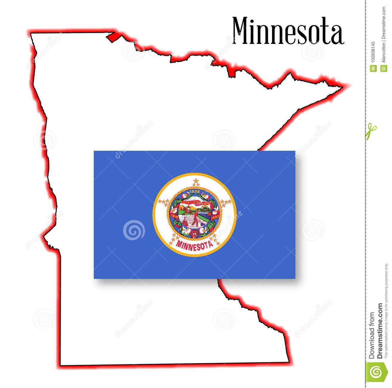 Minnesota State Map And Flag Stock Vector - Illustration of ... on new mexico map of usa, navy map of usa, alaska map of usa, al map of usa, brown map of usa, grand canyon map of usa, vermont map of usa, northeastern map of usa, massachusetts on map of usa, cincinnati map of usa, pittsburgh map of usa, dartmouth map of usa,