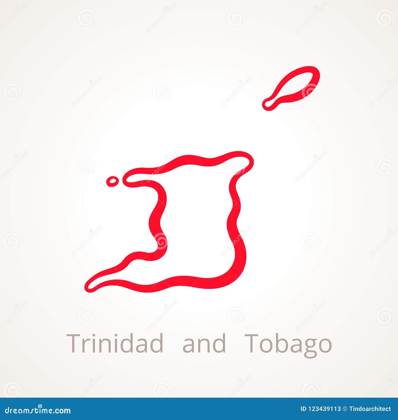 Trinidad And Tobago - Outline Map Stock Vector ...