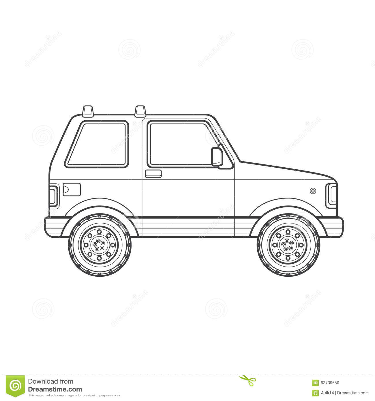 Outline Off-road Suv Car Body Style Illustration Icon