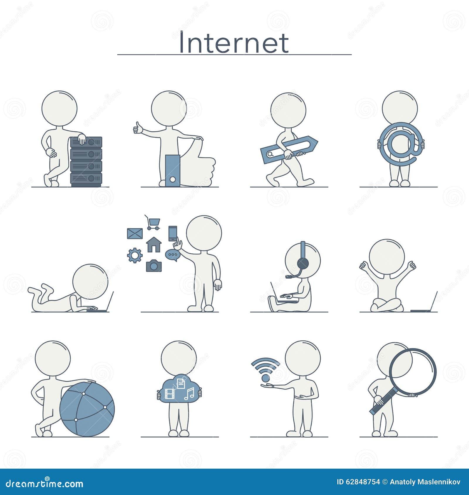 Outline People - Internet
