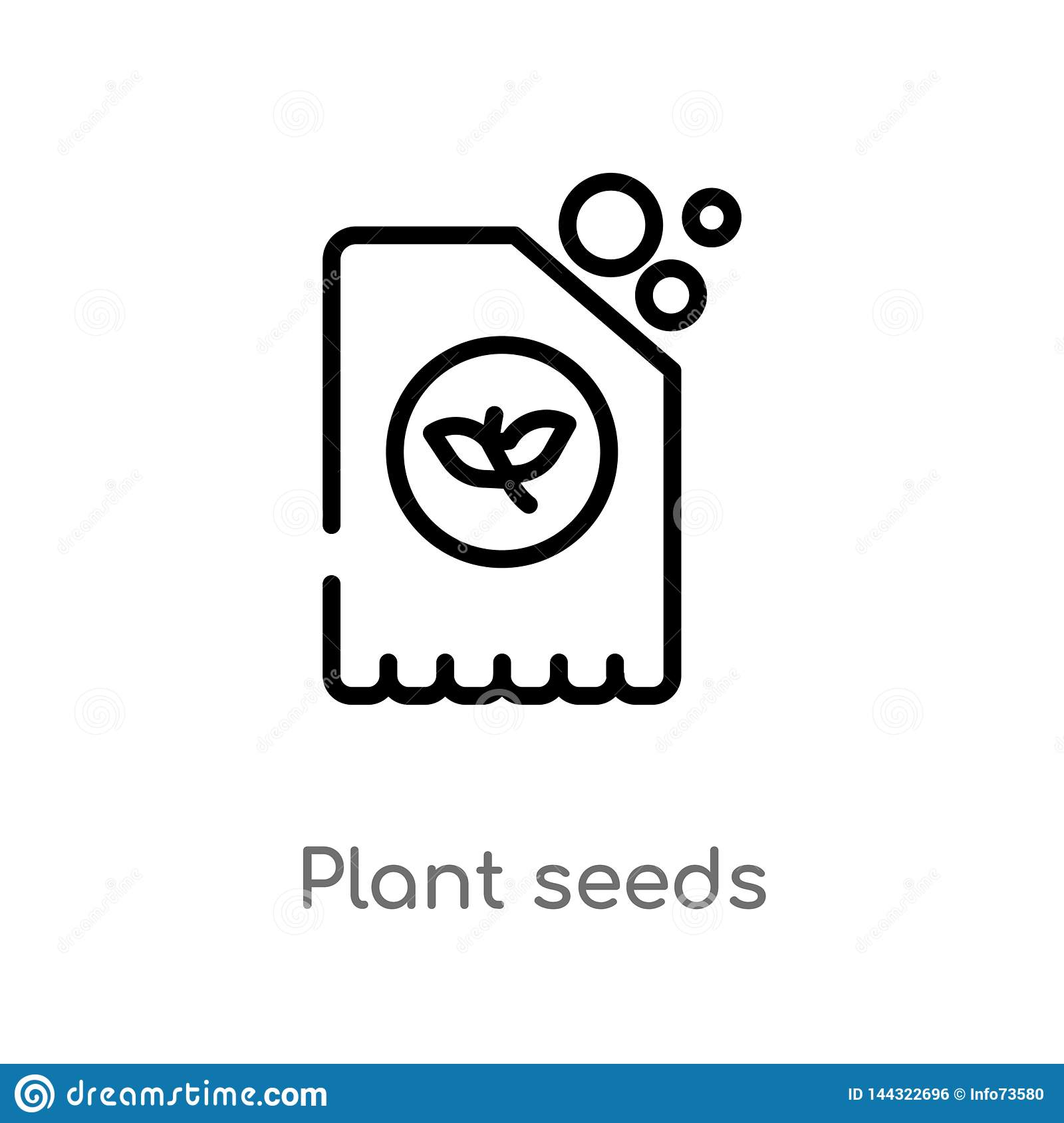 outline plant seeds vector icon. isolated black simple line element illustration from agriculture farming concept. editable vector