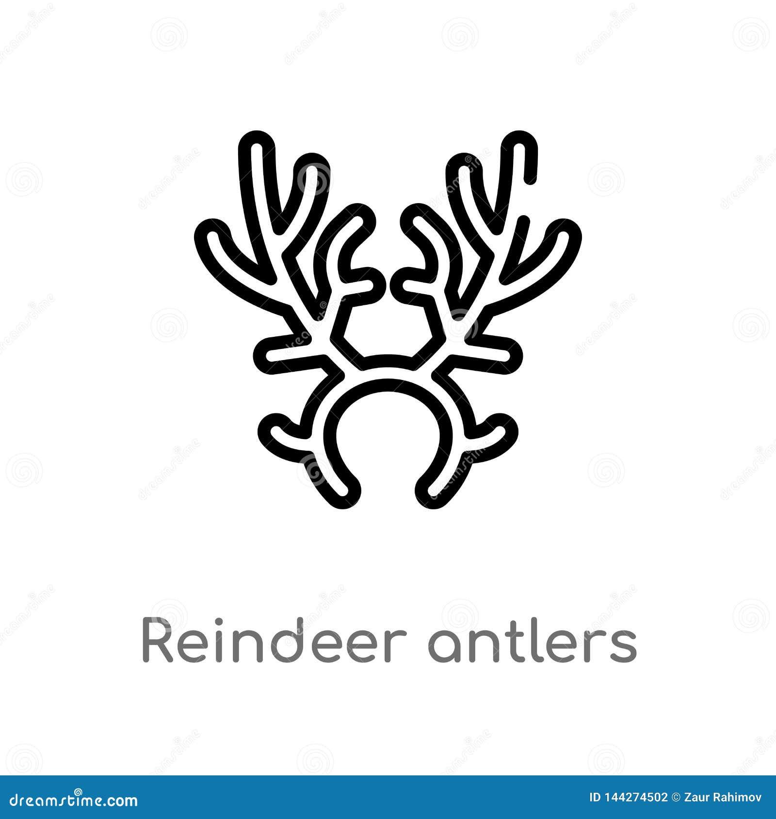 Best Templates: Reindeer Antler Outline