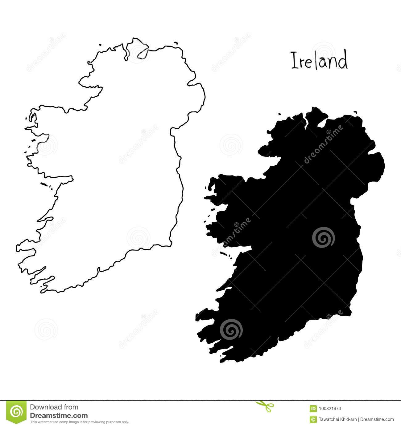 Outline And Silhouette Map Of Ireland - Vector Illustration ... on map of netherlands, map of european countries, map of japan, map of britain, map of british isles, map of dublin, map of skellig islands, map of denmark, map of united kingdom, map of ring of kerry, map of united states, map of prince edward island, map of eastern hemisphere, map of yugoslavia, map of northeast us, map of sweden, map of scotland, map of london, map of hong kong, map of philippines,