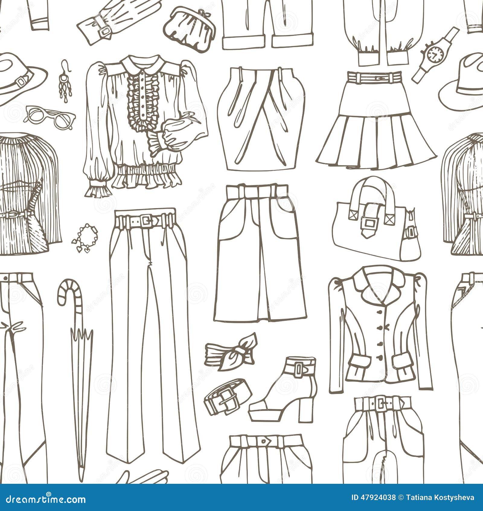Clothing Outlines Fashion Illustration