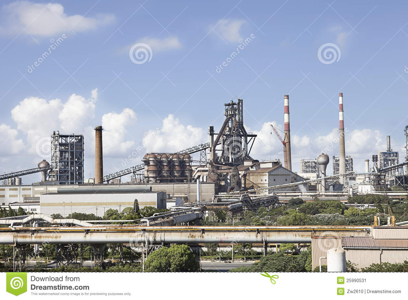 Outline of a steel works
