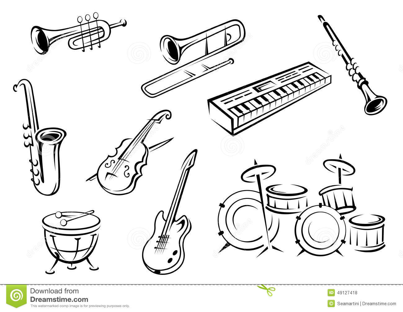 Ainsa Encuentro De Escuelas De Musica likewise Lyre Musical Instrument Clip Art 44506 also Clipart Grand Piano besides Saxophone Drawing also Guitar. on vintage musical instrument illustration