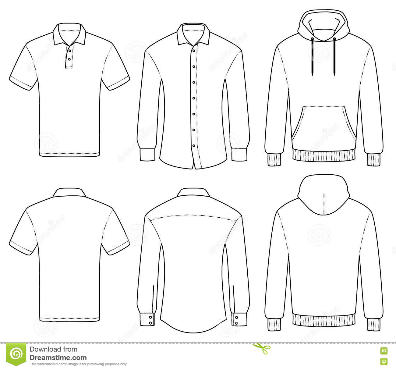 Polo shirt outline cliparts. Co.