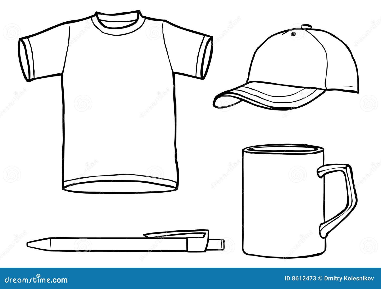 Coffee Mug Template Stock photos: outline template