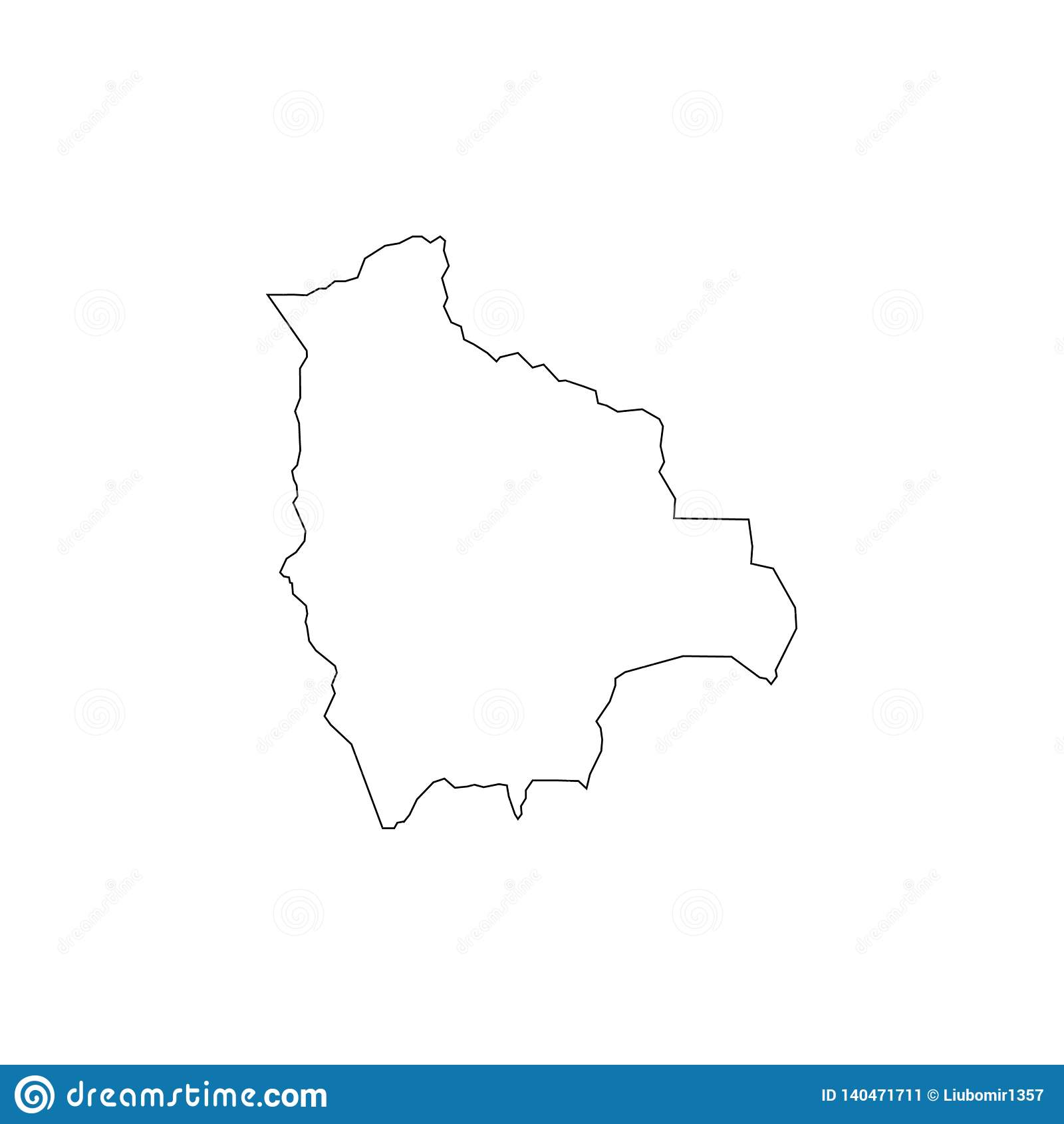 Picture of: Outline Vector Map Of Bolivia Simple Bolivia Border Map Vector Silhouette On White Background Stock Vector Illustration Of Contour Blank 140471711