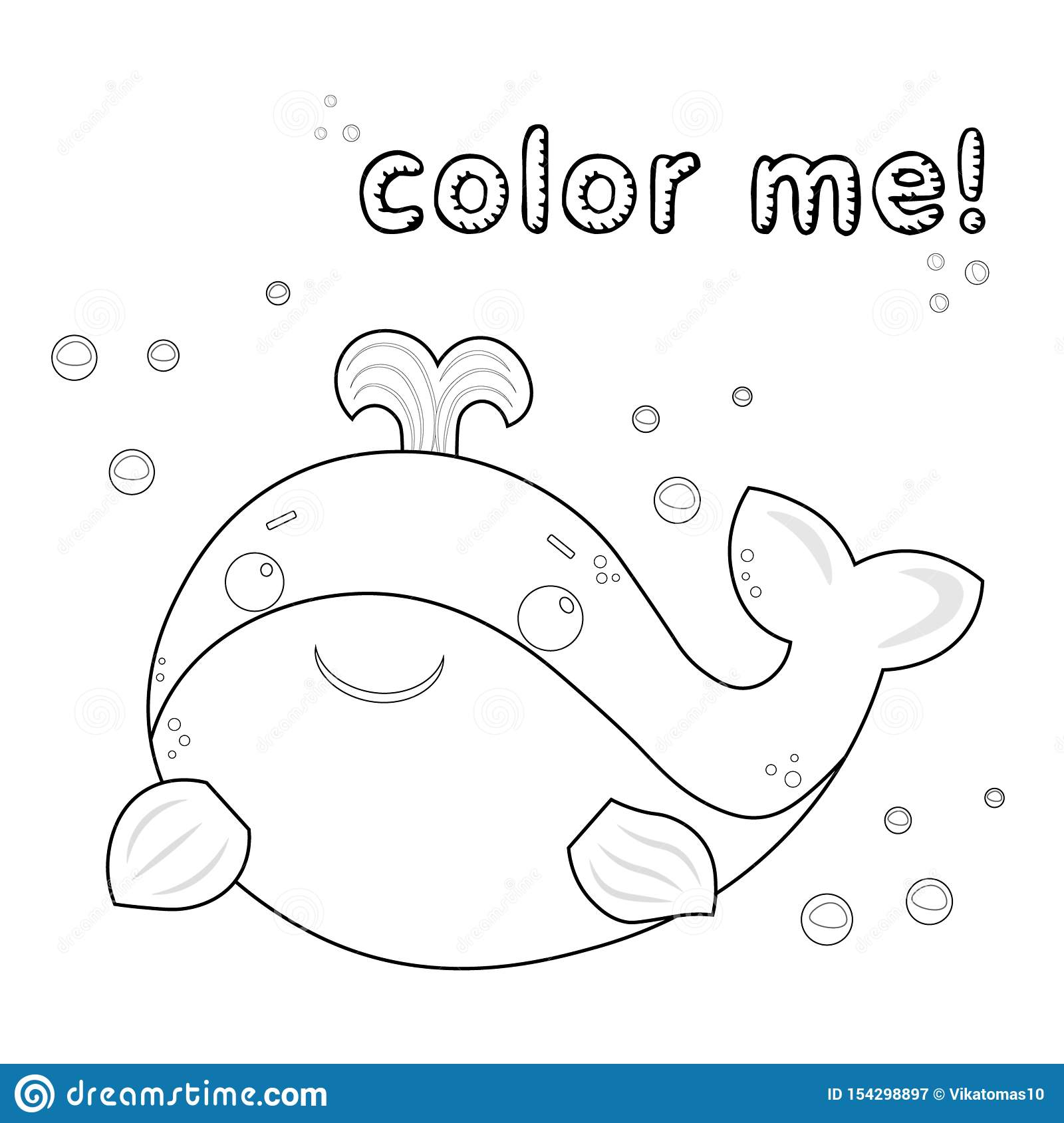 - Outline Whale. Coloring Page. Black And White Whale Cartoon