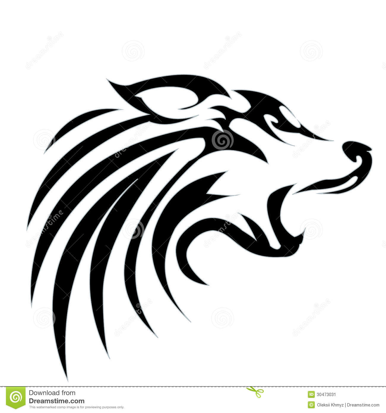 Outline Of A Wolf Head | New Calendar Template Site