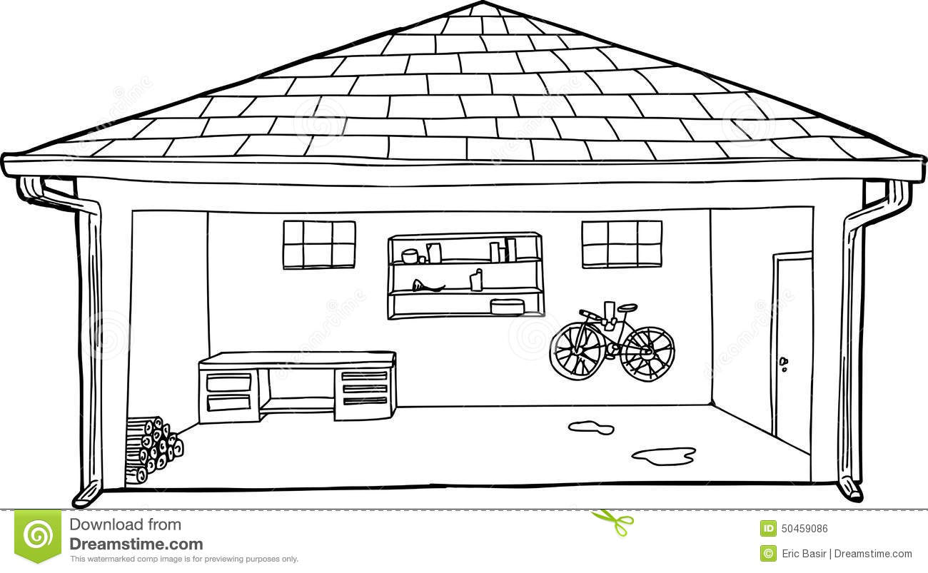 car garage coloring pages - photo#40