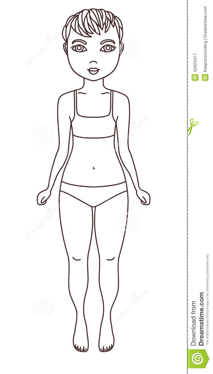 Simple Girl Coloring Pages