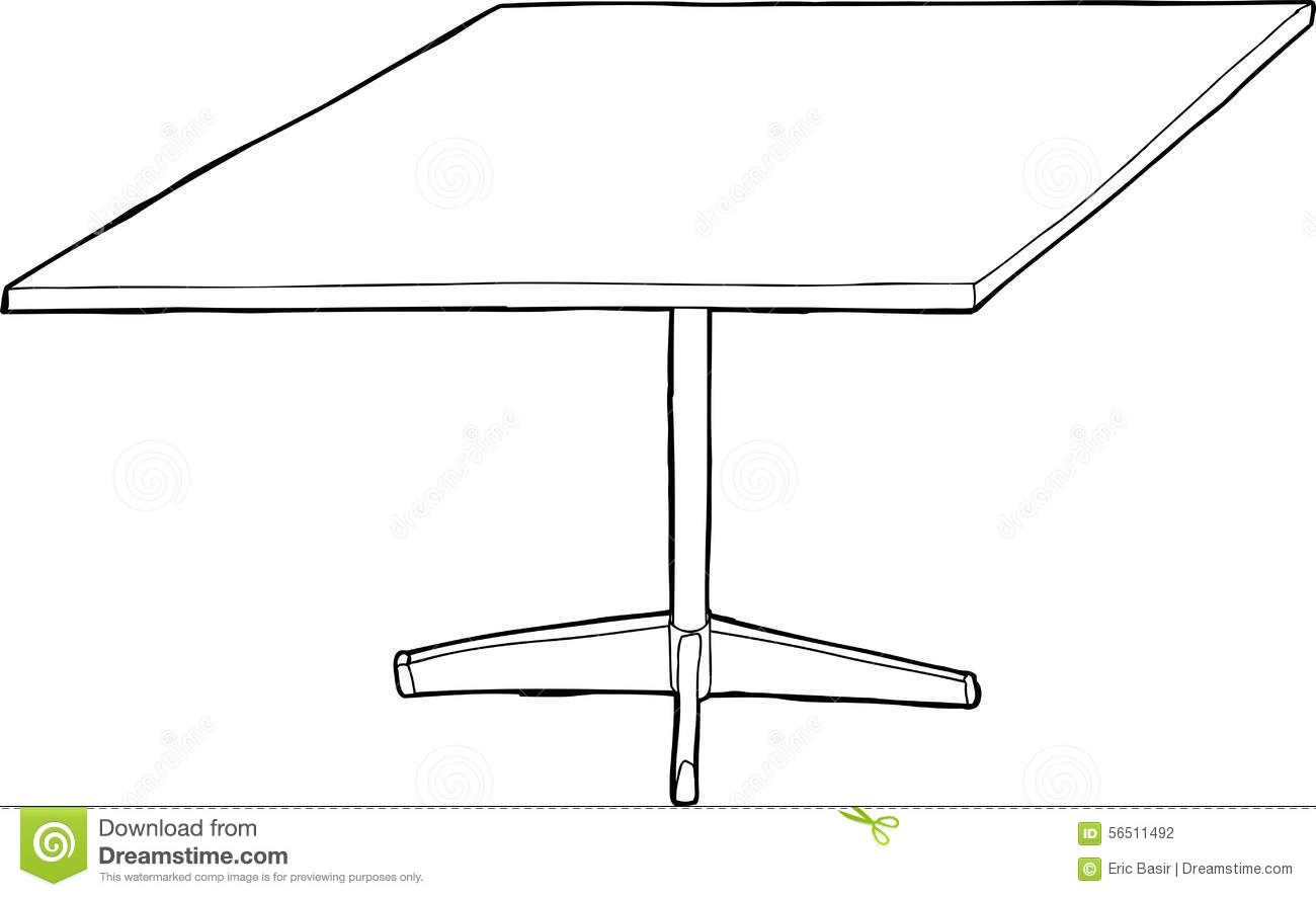 table clipart black and white. royalty-free illustration table clipart black and white