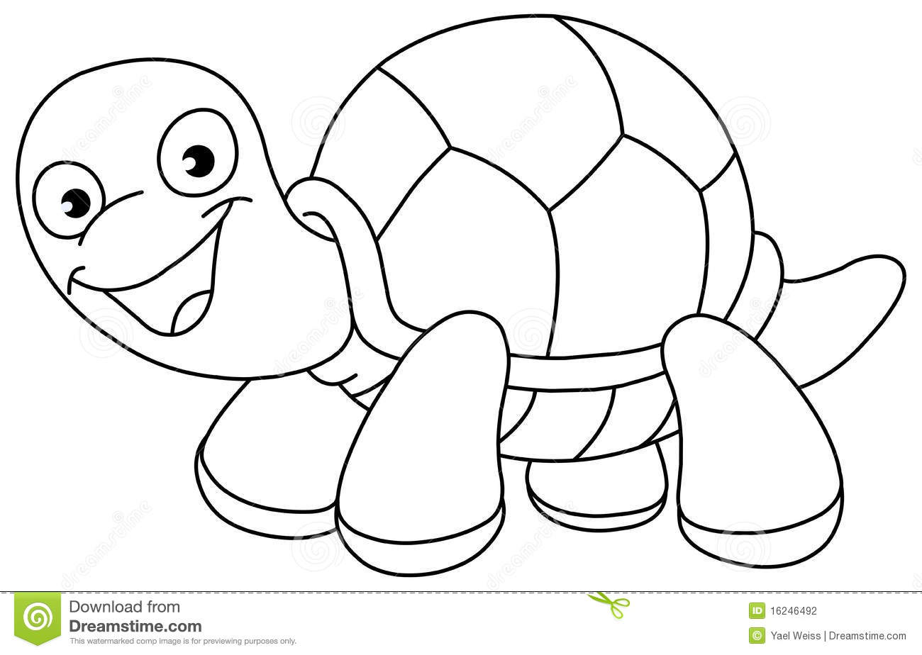 Outlined Turtle Stock Photography Image 16246492