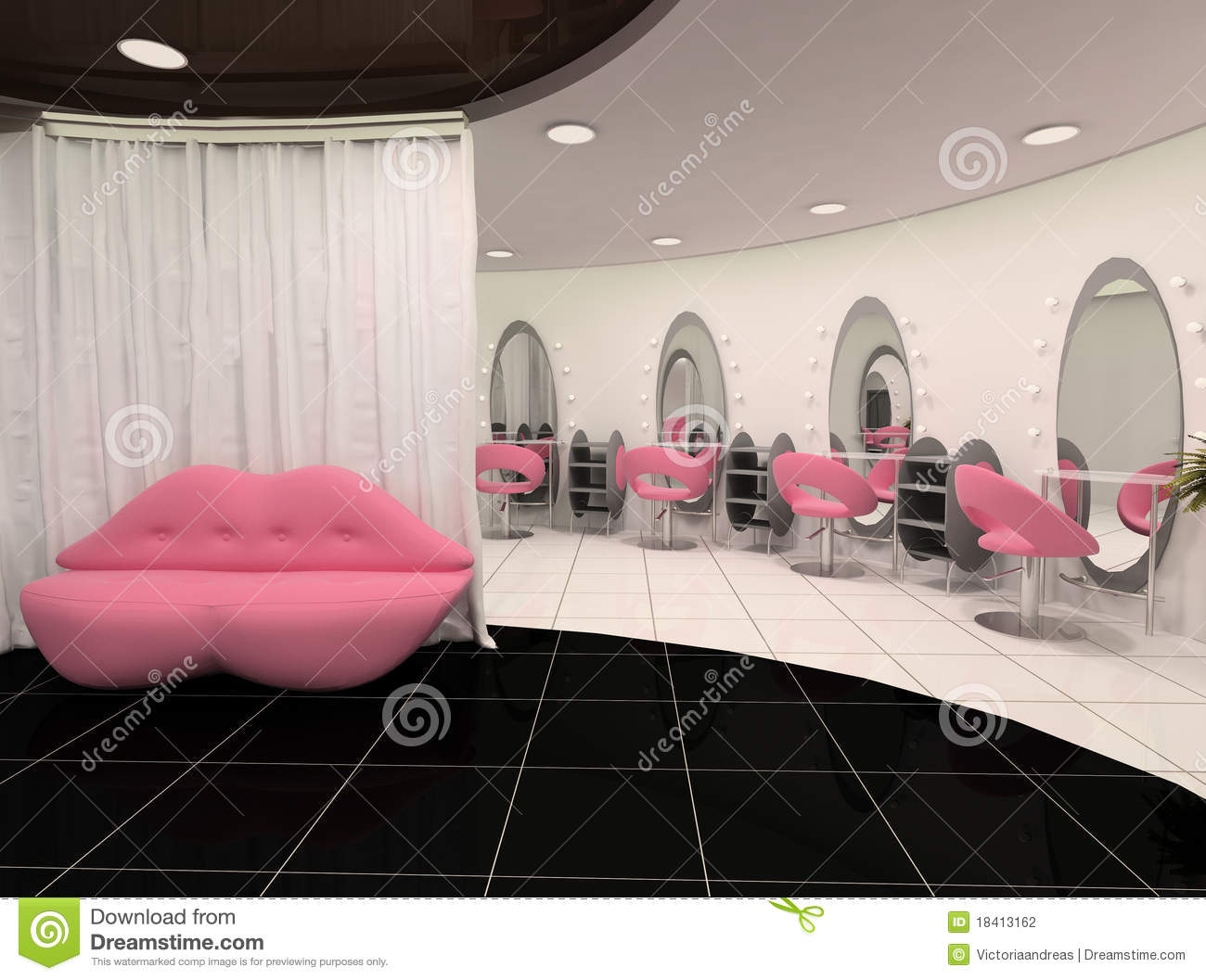 Outlook of stylish beauty salon stock photography image for A beautiful you salon