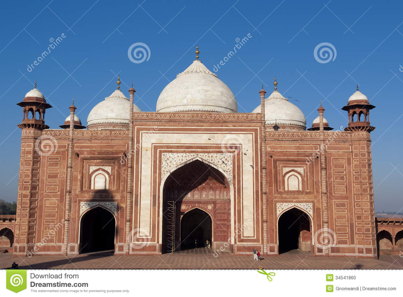 An Outlying Building Of Taj Mahal Stock Photo Image