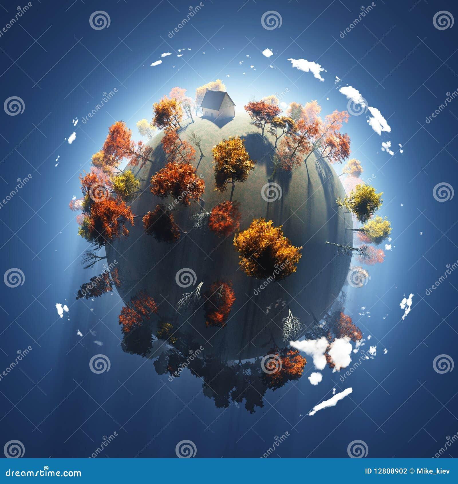 Outono no planeta pequeno
