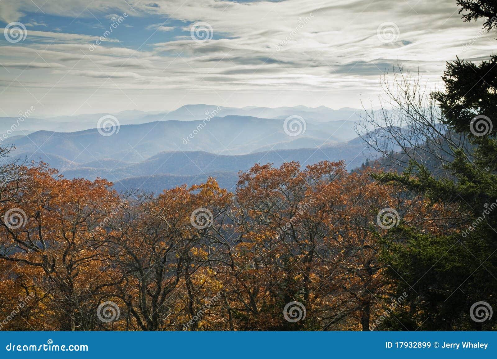 Outono, Parkway azul de Ridge