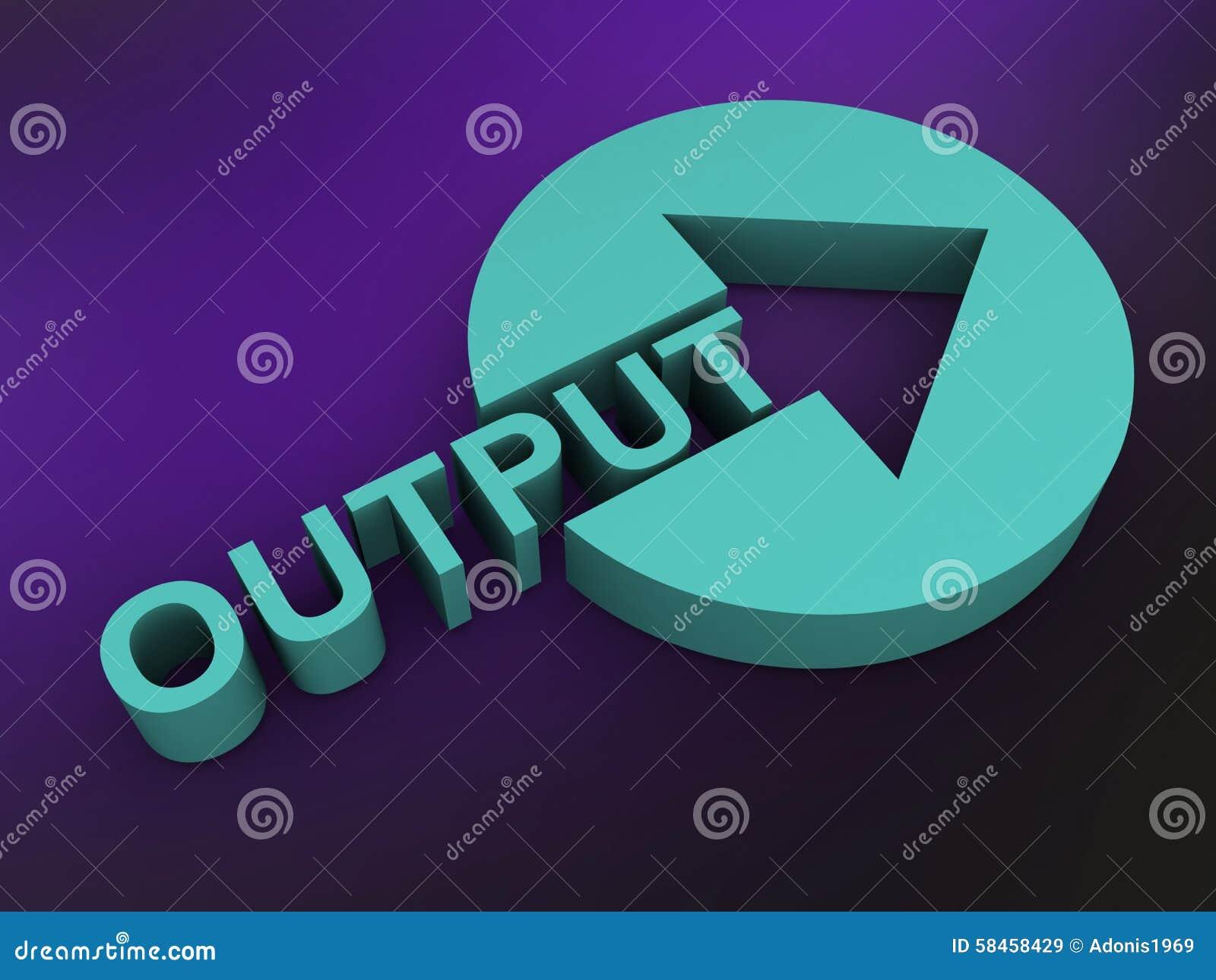 Output stock illustration. Illustration of round, product ...