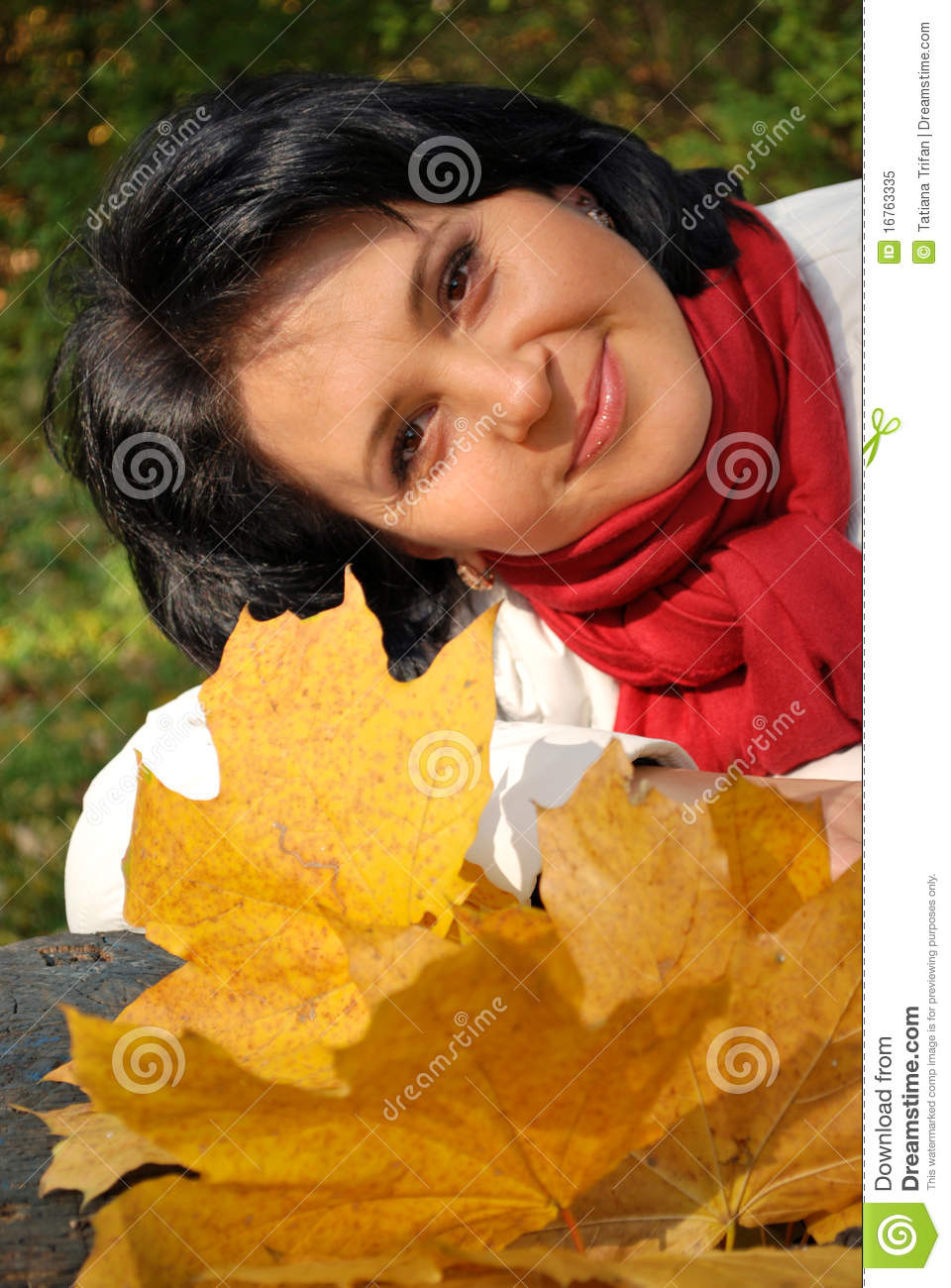 Outside autumn portrait