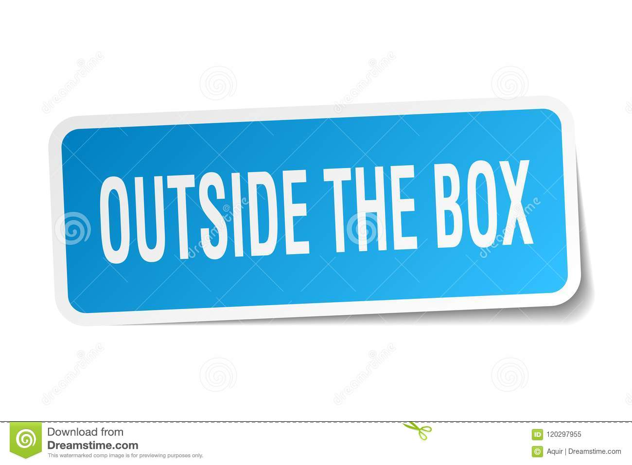 outside the box sticker