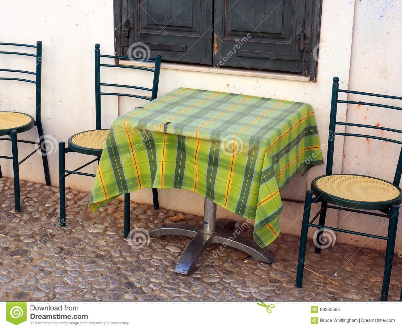 Download Outside Cafe Table And Chairs Stock Photo   Image Of Cafe, Window:  99332566