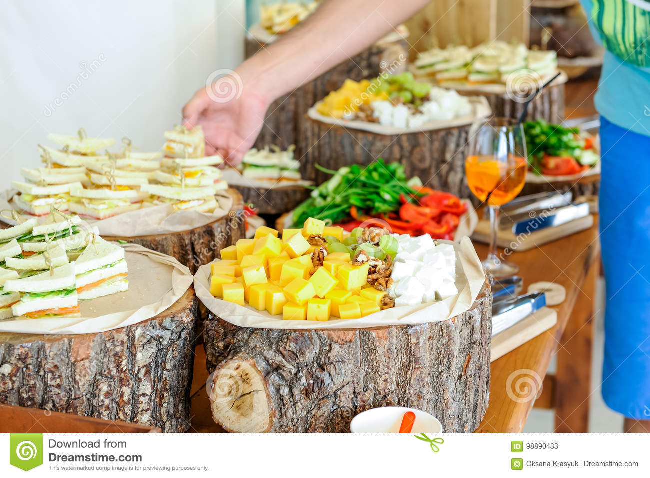Fine Outside Catering Buffet Table With A Delicious Food For Download Free Architecture Designs Scobabritishbridgeorg