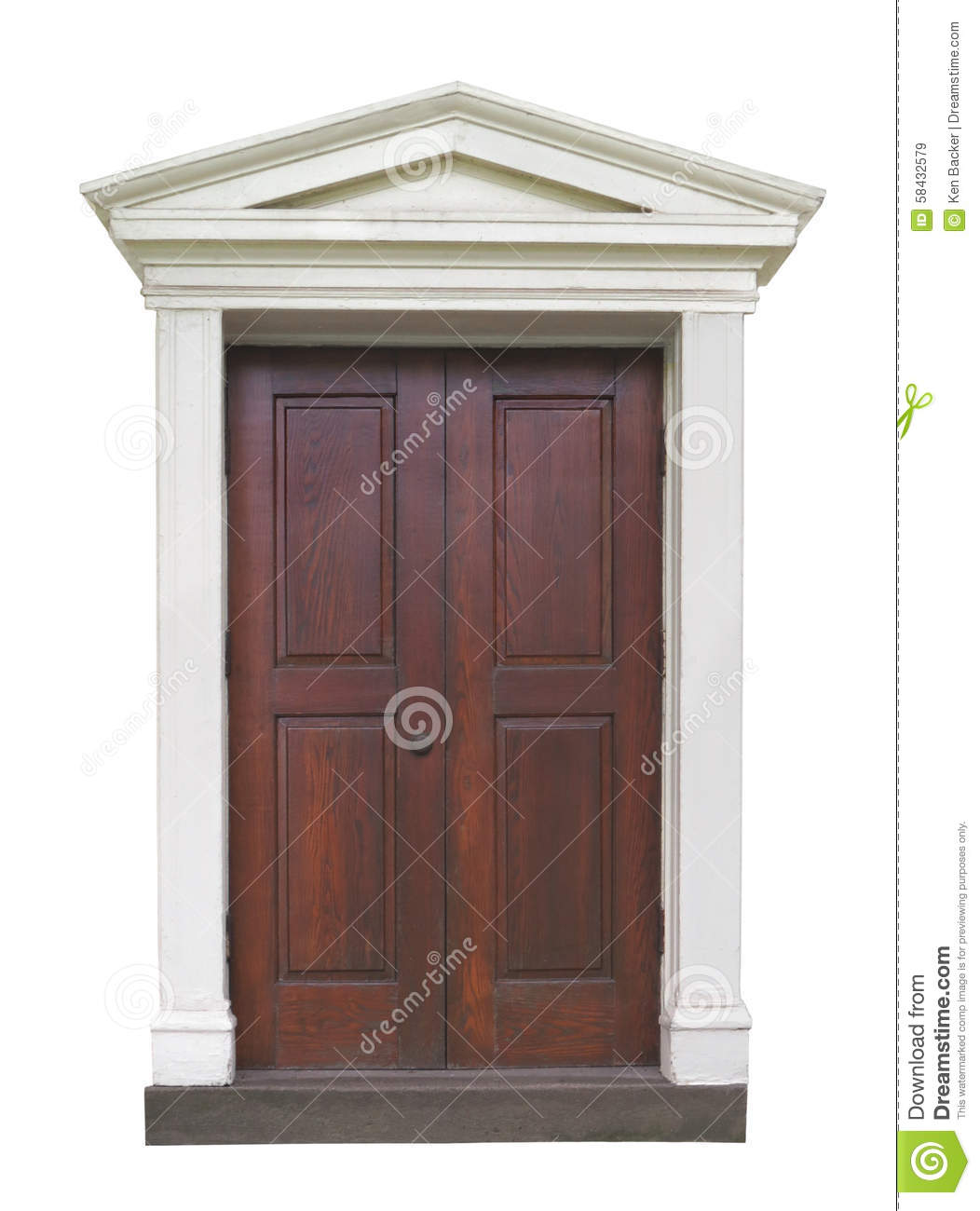 outside door with fancy molding stock image image of