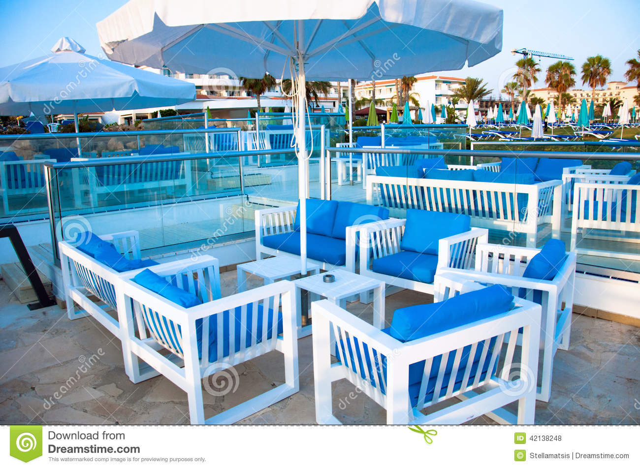 Garden Furniture Cyprus outside furniture stock photo - image: 42138248
