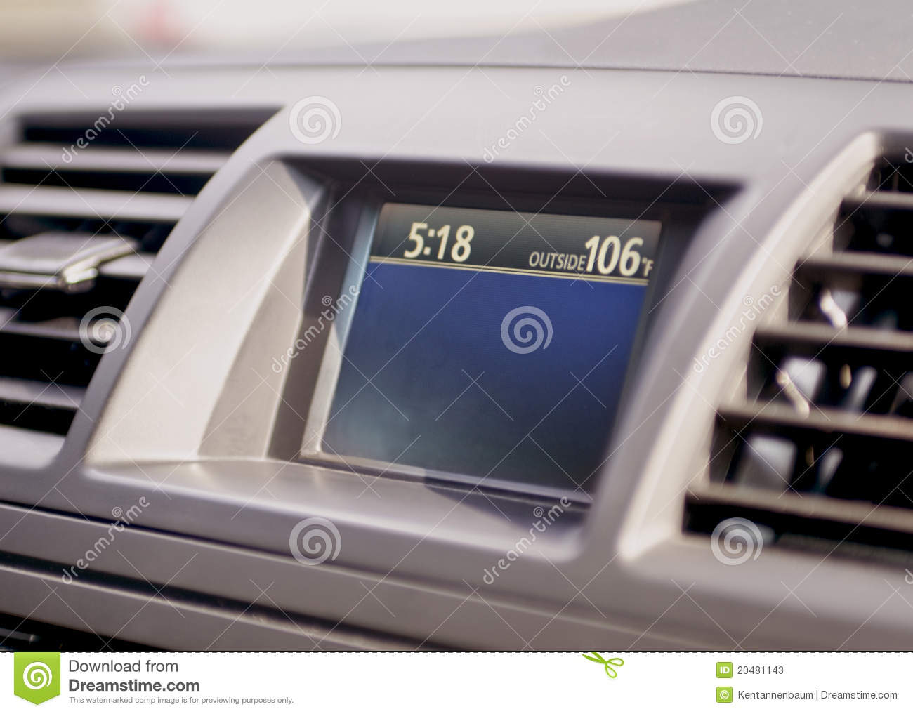 Outside Temperature Gauge On Auto Dashboard Stock Photos Image 20481143